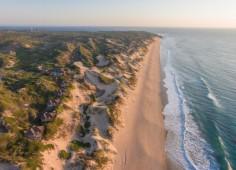 Blue Footprints Aerial view