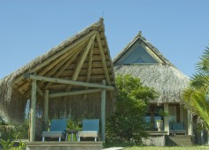 Dugong Beach Lodge Front of Chalet Sala