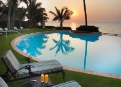 Southern Sun Maputo Pool At Sunset