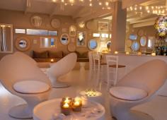 White Pearl Resort Dining Lounge At Night
