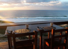 Blue Footprints Eco Lodge Breakfast view