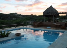 Blue Footprints Eco Lodge Pool Sunset
