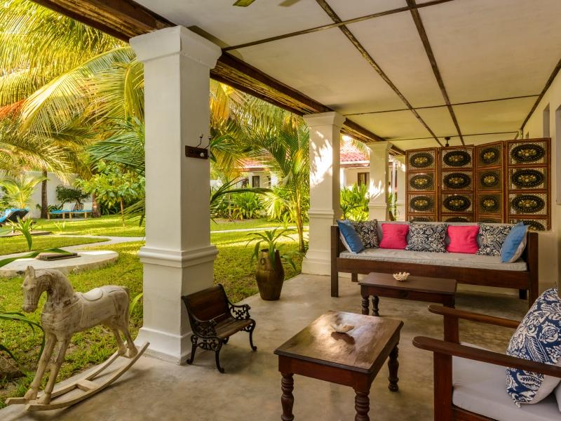 Ibo Island Lodge Garden Room Verandah