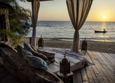 Kaya Mawa Day Beds and Sunset